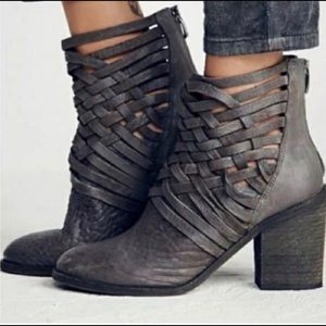 Free People Carrera Heeled Booties Sz 38